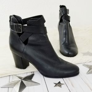 Cole Haan Nila II bootie ankle boot black strappy